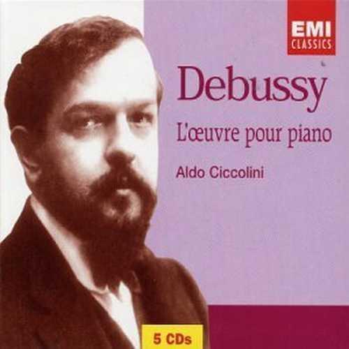 Ciccolini: Debussy - L'oeuvre pour Piano (5 CD, APE)