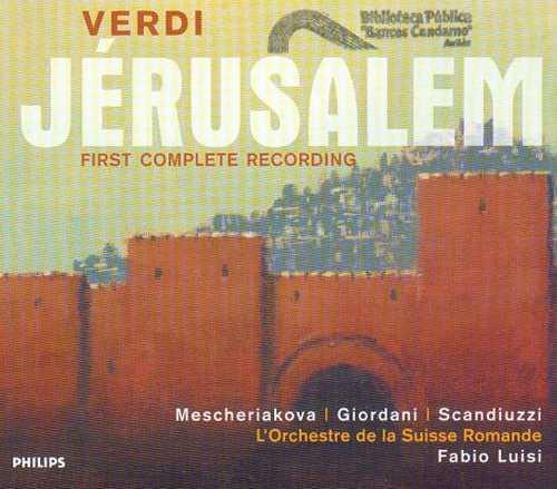 Verdi - Fabio Luisi: Jerusalem (3CD boxset, APE)