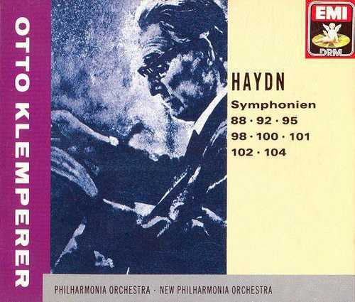 Klemperer - Haydn: Symphonies 88, 92, 95, 98, 100-102 & 104 (3CD boxset, APE)
