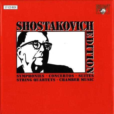 Shostakovich Edition - Symphonies, Concertos, Etc (27 CD boxset, APE)