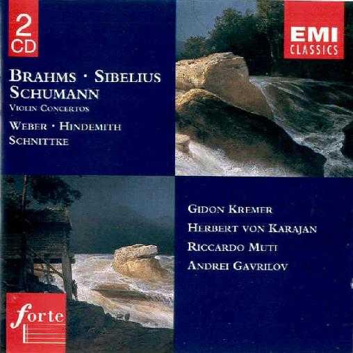 Brahms, Sibelius, Schumann: Violin Concertos (2CD, APE)