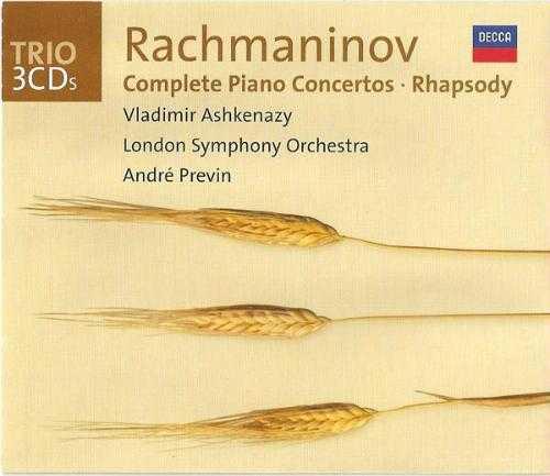 Rachmaninov: Complete Piano Concertos/Rhapsody (3 CD, FLAC)