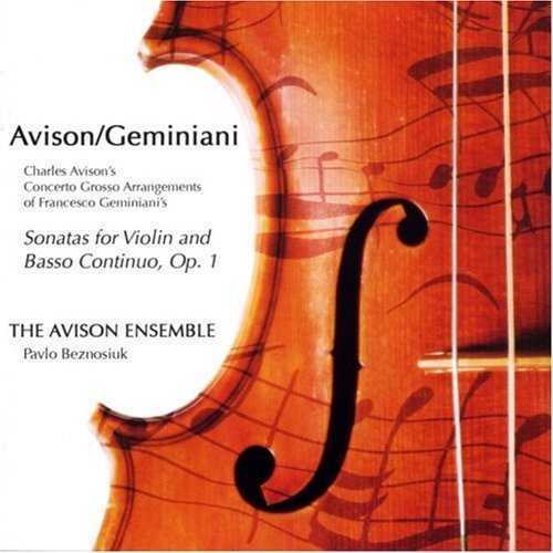 Avison - Sonatas For Violin And Basso Continuo, Op.1 (2 CD, FLAC)