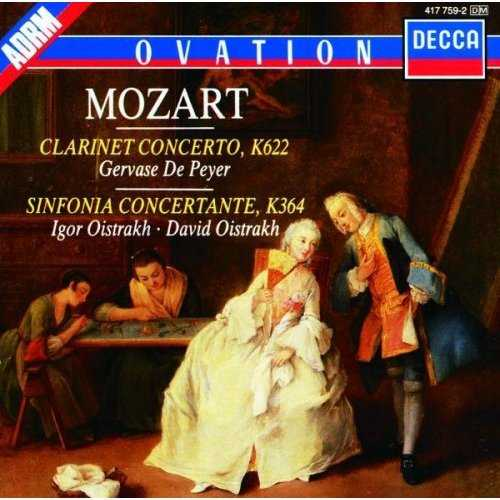 Mozart: Clarinet Concerto K622 / Sinfonia Concertante K364 ()