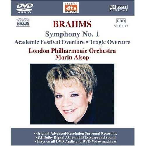Marin Alsop: Brahms - Symphony No. 1; Academic Festival Overture; Tragic Overture (DVDA)