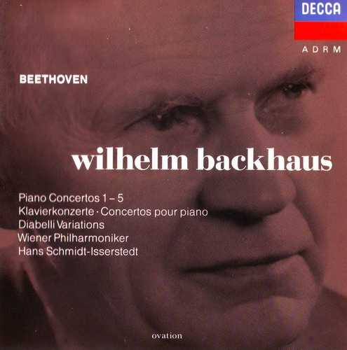 Backhaus: Beethoven - Piano Concertos 1-5, Diabelli Variations (3 CD, FLAC)