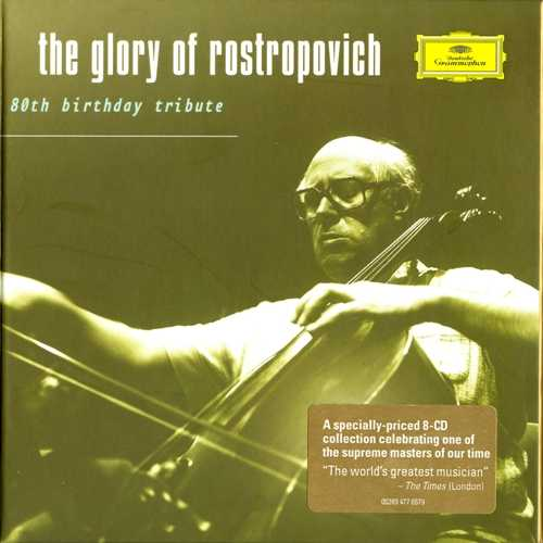 The Glory of Rostropovich: 80th Birthday Tribute (8 CD box set, APE)