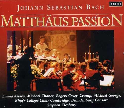 Bach - Matthaus Passion (3 CD box set, FLAC)