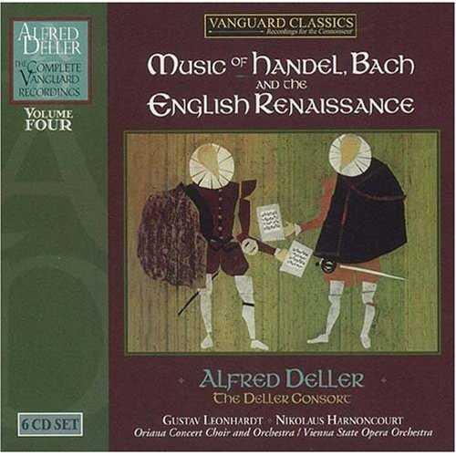 Alfred Deller: Music of Handel, Bach and the English Renaissance. Vol.4 (6 CD box set, FLAC)