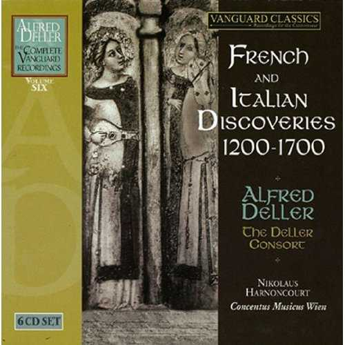 Alfred Deller: French and Italian Discoveries, 1200-1700. Vol.6 (6 CD box set, FLAC)