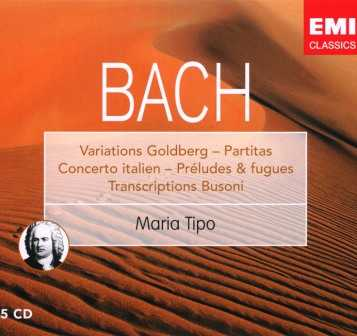 Maria Tipo: Bach - Partitas, Variations Goldberg etc. (5 CD box set, FLAC)
