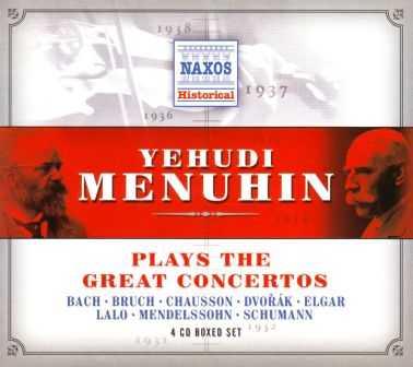 Yehudi Menuhin Plays The Great Concertos (4 CD box set, APE)