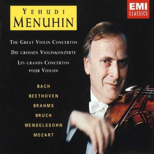 Yehundi Menuhin - The Great Violin Concertos (3 CD box set, APE)