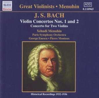Great Violonists, Menuhin: Bach - Violin Concertos (APE)