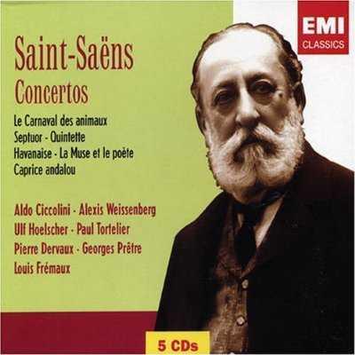 Ciccolini, Tortelier: Saint-Saens - Piano, Violin, Cello Concertos (5 CD, APE)
