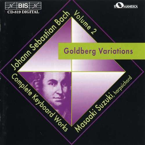 Suzuki: Bach - Complete Keyboard Works vol.2, Goldberg Variations (FLAC)