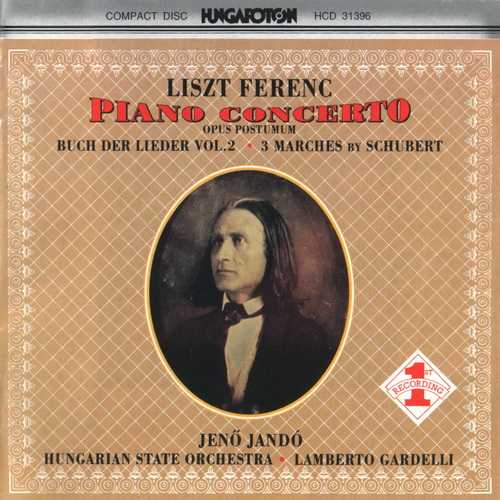 Jando: Liszt - Piano Concerto op.Post., Buch der Lieder vol.2; 3 Marches by Schubert (FLAC)