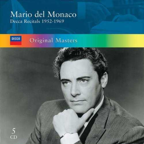 Mario del Monaco - Decca Recitals 1952-1969 (5 CD box set, APE)