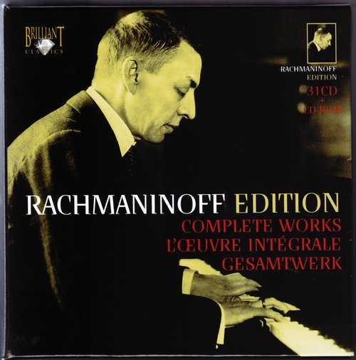 Rachmaninoff Edition: Complete Works (31 CD box set, WavPack)