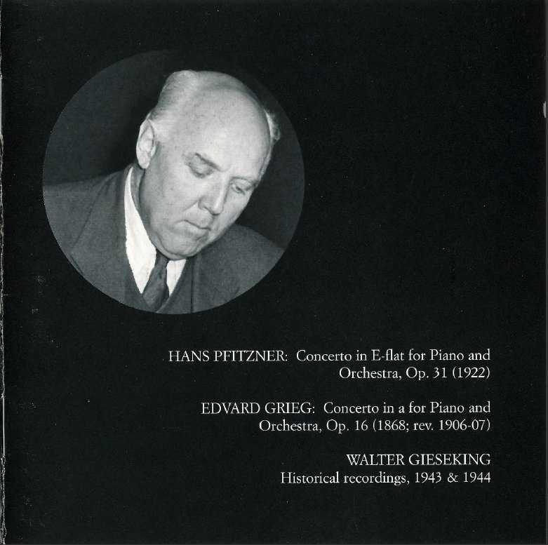 Gieseking Plays Pfitzer & Grieg (FLAC)