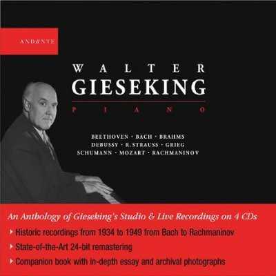 Walter Gieseking - Piano (4 CD box set, APE)