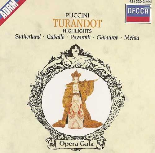 Mehta: Puccini - Turandot, Highlights (FLAC)