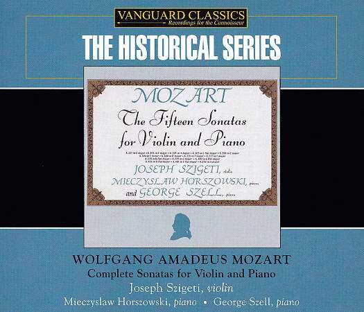 Szigeti, Horszowski, Szell: Mozart - Complete Sonatas for Violin and Piano (4 CD box set, FLAC)