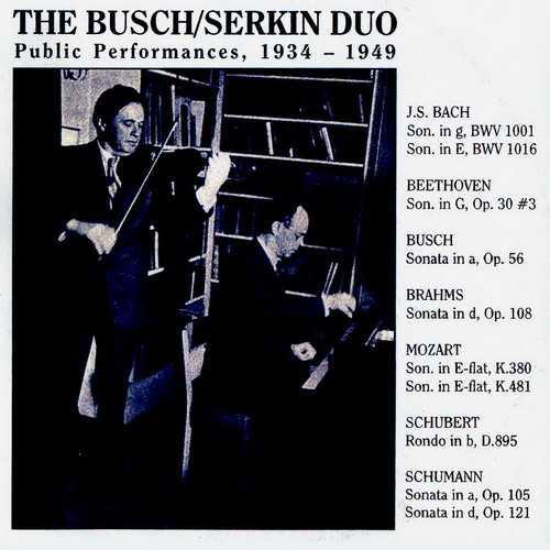 The Busch/Serkin Duo - Public Performances 1934-1949 (3 CD, FLAC)
