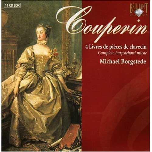 Borgstede: Couperin - 4 Livres de Pièces de Clavecin (11 CD box set, APE)