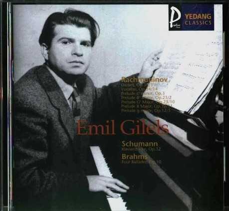 Gilels plays Rachmaninov, Schumann, Brahms (APE)