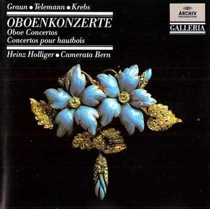 Holliger: Graun, Telemann, Krebs - Oboe Concertos (FLAC)