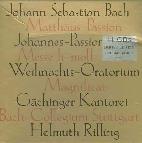 Rilling: J.S.Bach – Matthaus-Passion, Johannes-Passion, Messe h-moll, Weihnachts-Oratorium, Magnificat (11 CD, APE)