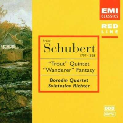 "Borodin Quartet, Richter: Schubert - ""Trout"" Quintet, ""Wanderer"" Fantasy (FLAC)"