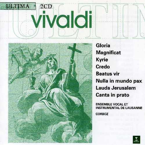 Corboz: Vivaldi - Gloria, Magnificat, Kyrie, Credo, Beatus Vir, Nulla in Mundo Pax, Lauda Jerusalem, Canta in Prato (2 CD, FLAC)