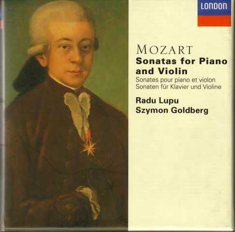 Lupu, Goldberg: Mozart - Sonatas for Piano and Violin (4 CD box set, APE)