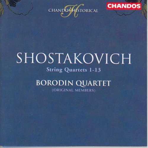 Borodin Quartet: Shostakovich - String Quartets 1-13 (4 CD, FLAC)