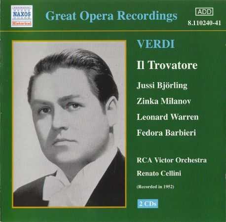 Great Opera Recordings. Cellini: Verdi - Il Trovatore (2 CD, FLAC)