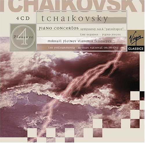Pletnev: Tchaikovsky - Piano Concertos, Symphony Pathetique, The Seasons, Piano Pieces (4 CD box set, FLAC)