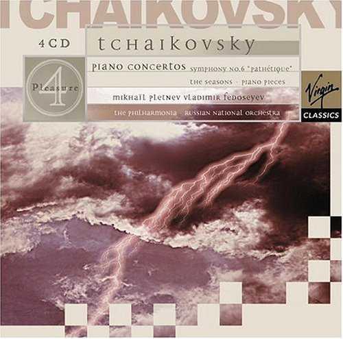 Pletnev: Tchaikovsky - Piano Concertos, Symphony Pathetique, The Seasons, Piano Pieces (4 CD box set, FLAC)