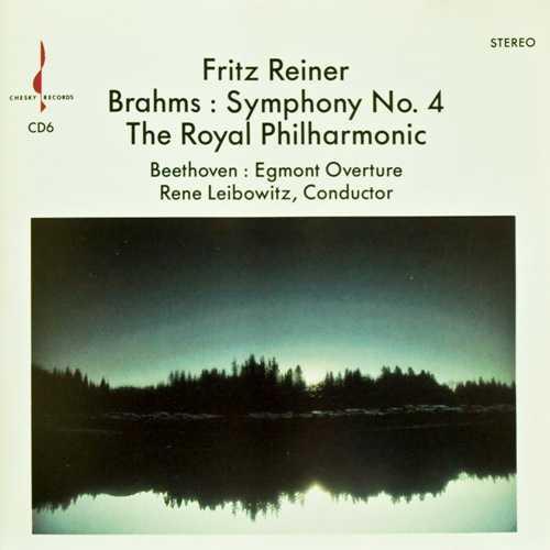Reiner, Leibowitz: Brahms - Symphony no.4, Beethoven - Egmont Overture (FLAC)