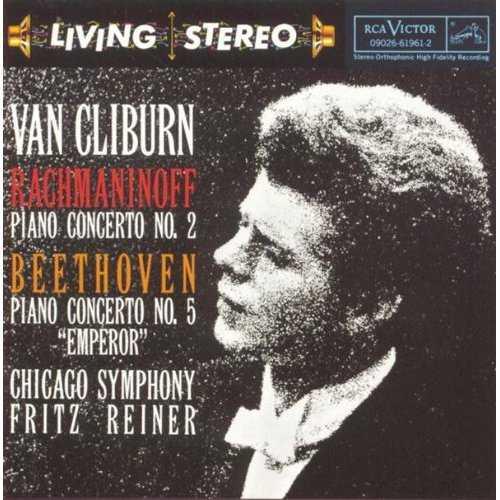 """Reiner, van Cliburn: Rachmaninov - Piano Concerto no.2, Beethoven - Piano Concerto no.5 """"Emperor"""" (APE)"""