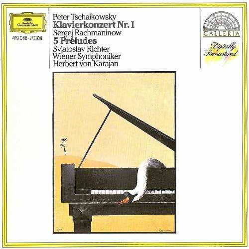 Karajan, Richter: Tchaikovsky - Piano Concerto no.1, Rachmaninov - 5 Preludes (APE)