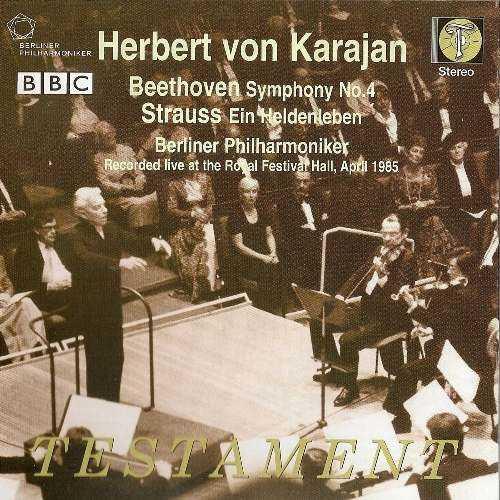 Karajan: Beethoven - Symphony no.4, Richard Strauss - Ein Heldenleben (FLAC)