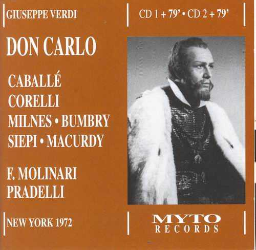 Molinari-Pradelli: Verdi - Don Carlo, New York 04.1972 (2 CD, FLAC)
