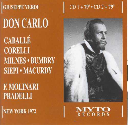 Molinari-Pradelli: Verdi - Don Carlo, New York 04.1972 (2 CD, FLAC)