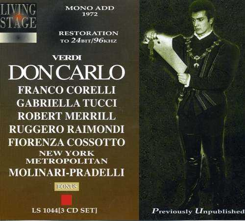Molinari-Pradelli: Verdi - Don Carlo, New York 06.1972 (3 CD, FLAC)