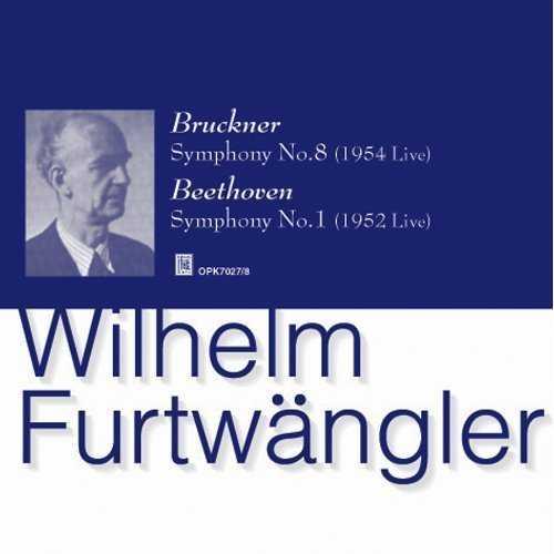 Furtwangler: Bruckner - Symphony no.8, Beethoven - Symphony no.1 (2 CD, FLAC)