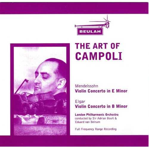 The Art of Campoli Vol.01-03 (3 CD, FLAC)