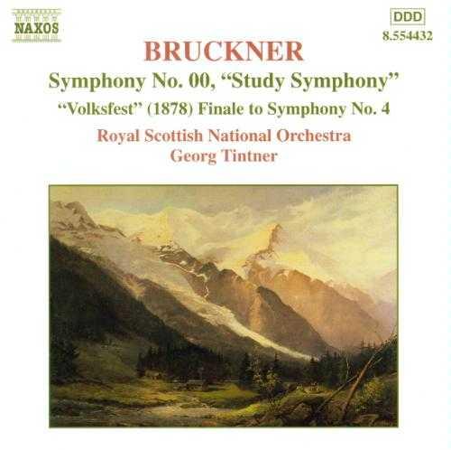 """Tintner: Bruckner - Symphony no.00 """"Study Symphony"""", """"Volkfest"""" Finale to Symphony no.4 (FLAC)"""
