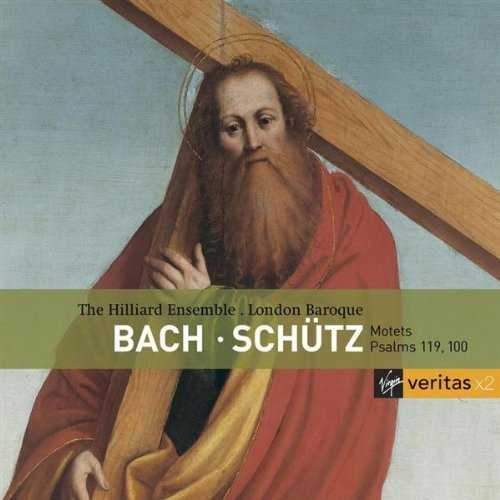 The Hilliard Ensemble, London Baroque: Bach - Motets, Schutz - Psalms 119, 100 (2 CD, APE)